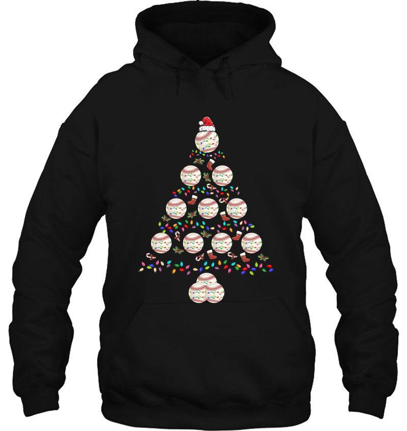 Baseball Balls Christmas Tree lights Xmas Mugs