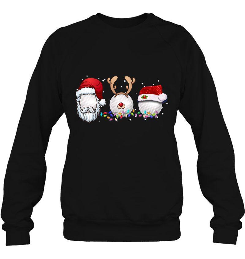 Three Golf Balls Christmas Hat Santa Xmas Mugs