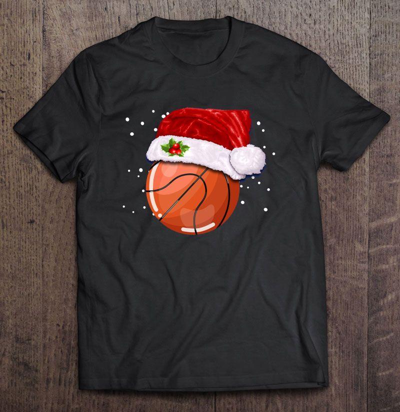 Basketball Santa Hat Christmas Version Shirt