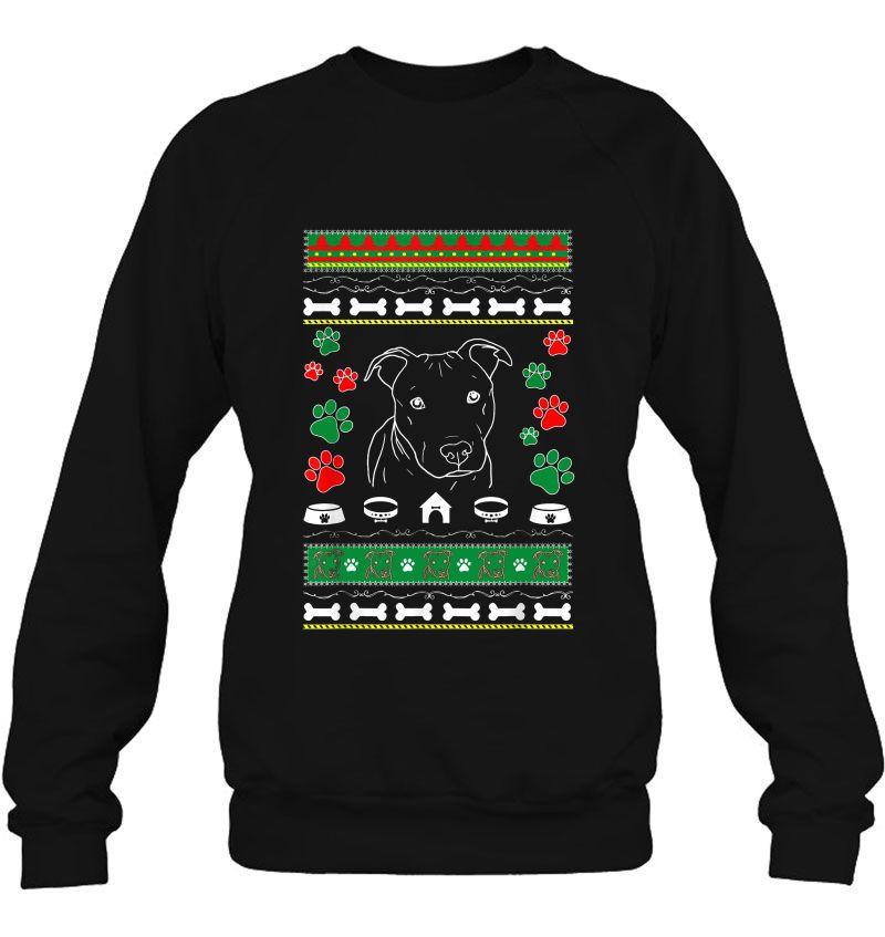 Pitbull And Paw Ugly Christmas Sweater Mugs