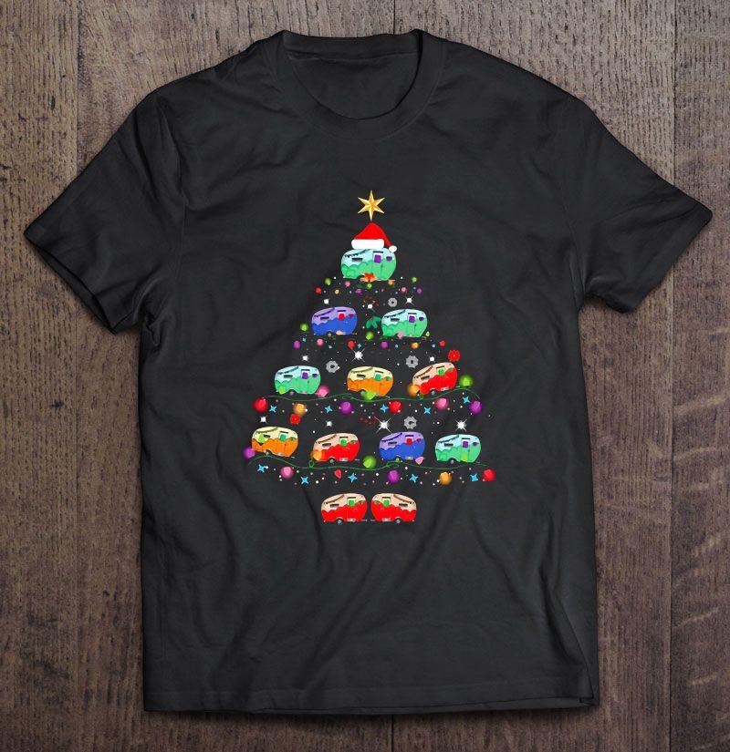 Christmas Camping Car Tree Version Shirt