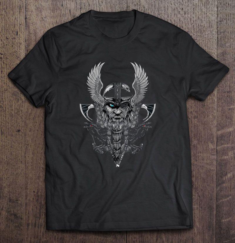 e029e73f Odin Norse Mythology With Huginn And Muninn - T-shirts | TeeHerivar