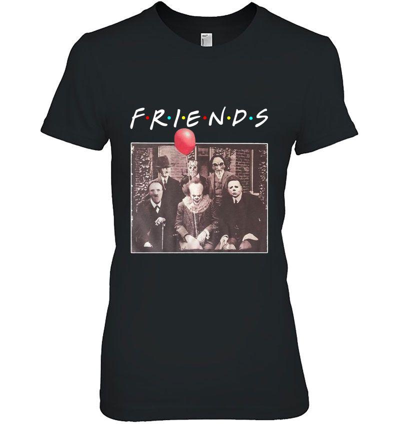 Friends Horror Characters Pennywise Freddy Krueger Jason Voorhees Michael Myers Halloween Hoodie