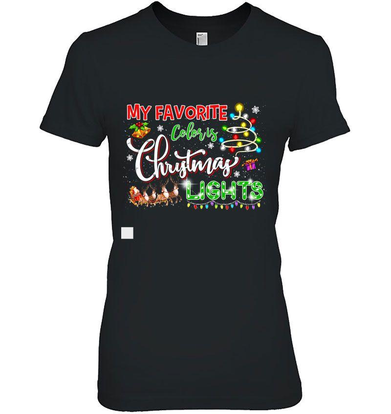 My Favorite Color Is Christmas Lights Black Version2 Hoodie