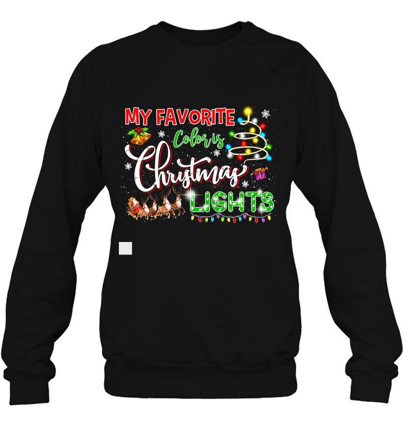 My Favorite Color Is Christmas Lights Black Version2 Mugs