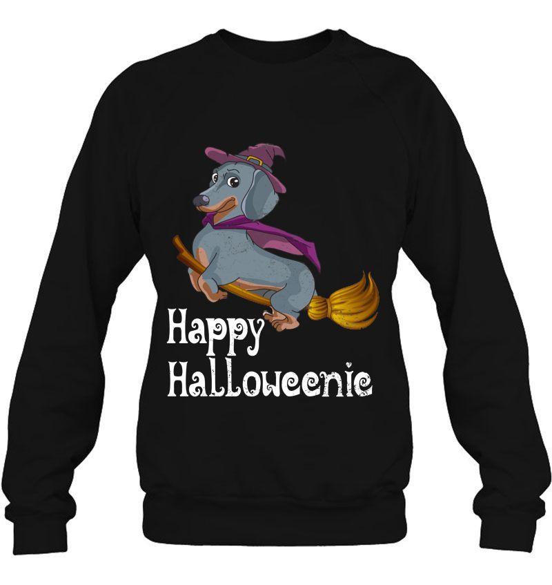 Happy Halloweenic Dachshund Flying On Broom Version Mugs