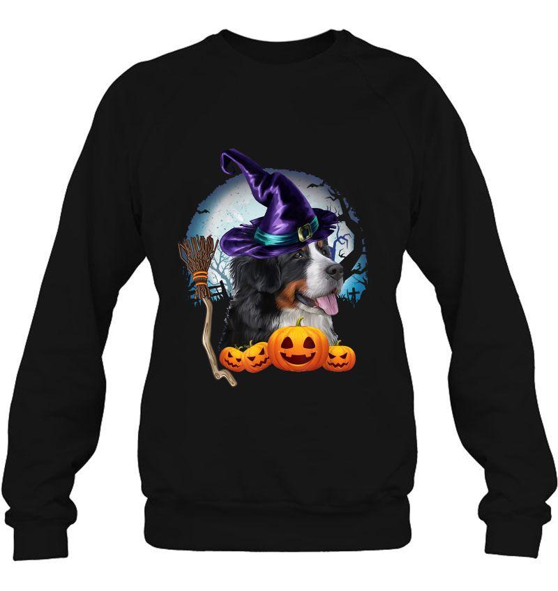 Bernese Mountain Witch Hat Dog Halloween Costume Mugs