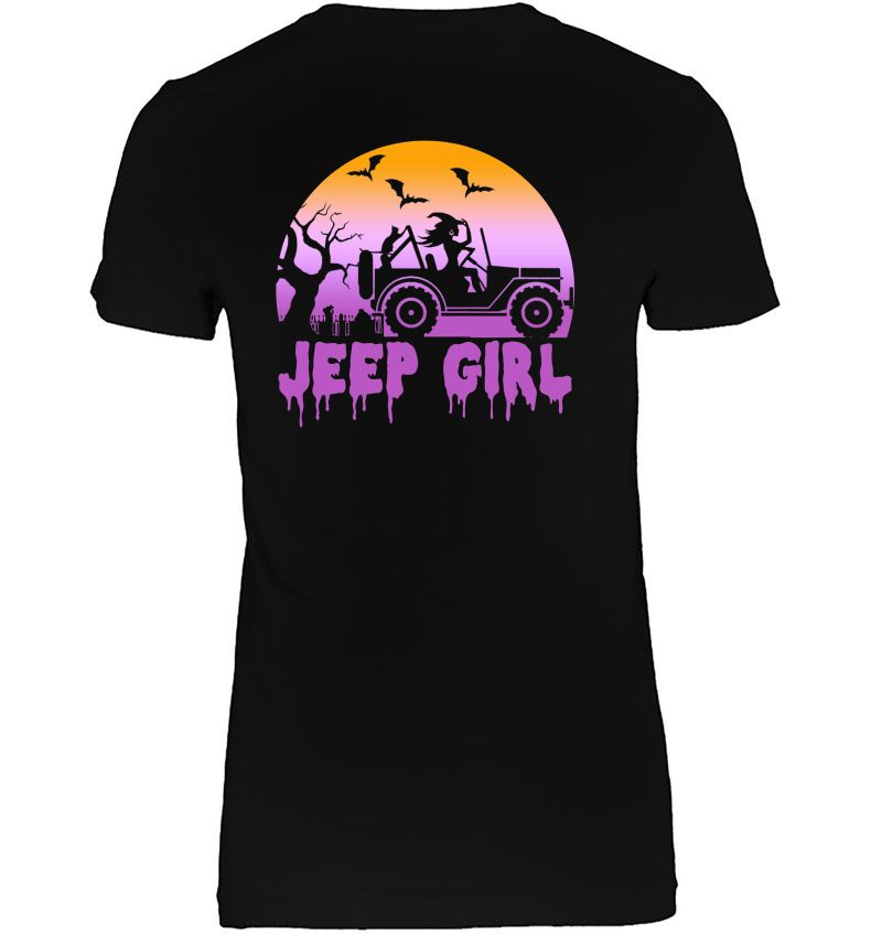 Jeep Girl Witch Drive Jeep Halloween Hoodie