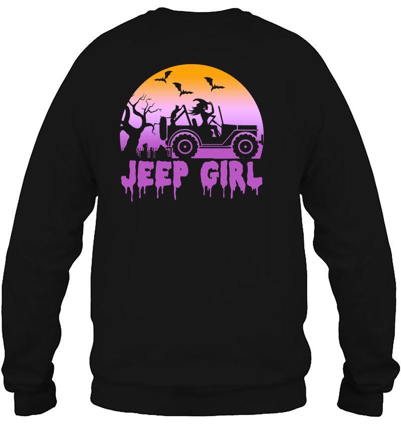Jeep Girl Witch Drive Jeep Halloween Mugs