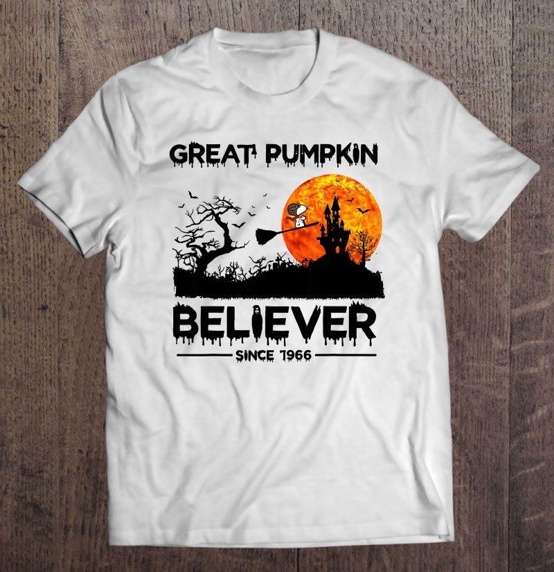 Great Pumpkin Believer Since 1966 Snoopy & Halloween Castle Version Shirt