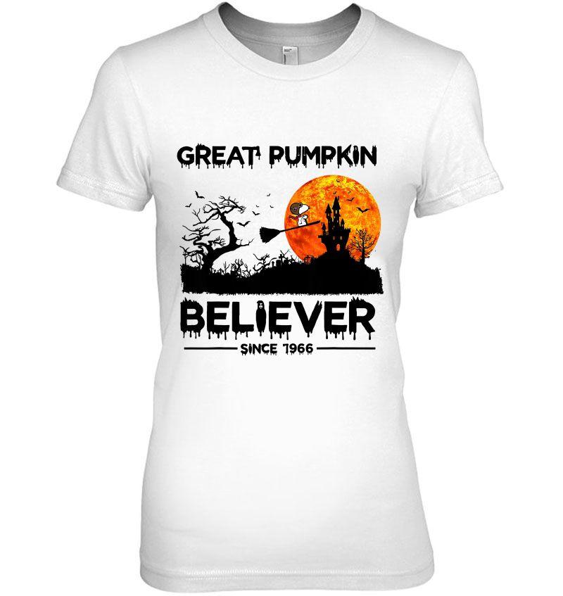 Great Pumpkin Believer Since 1966 Snoopy & Halloween Castle Version Hoodie