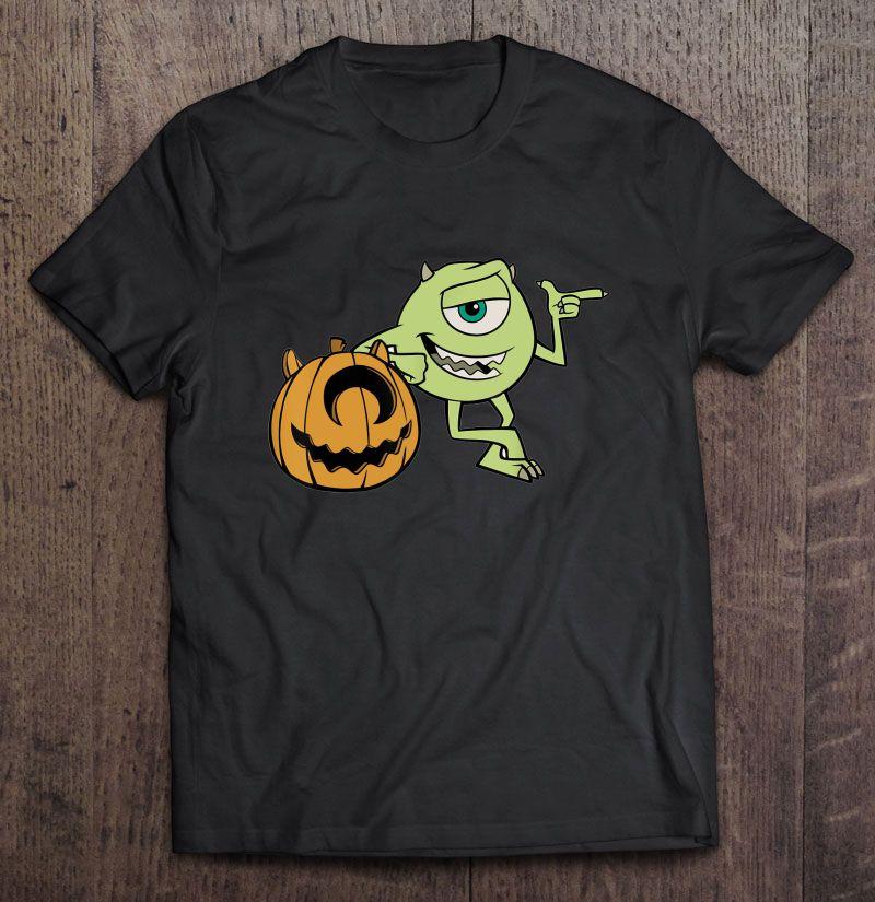 Disney Pixar Monster Inc Mike Halloween Pumpkin Shirt