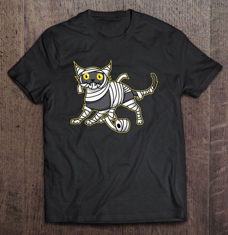 Mummy Cat Halloween Shirt