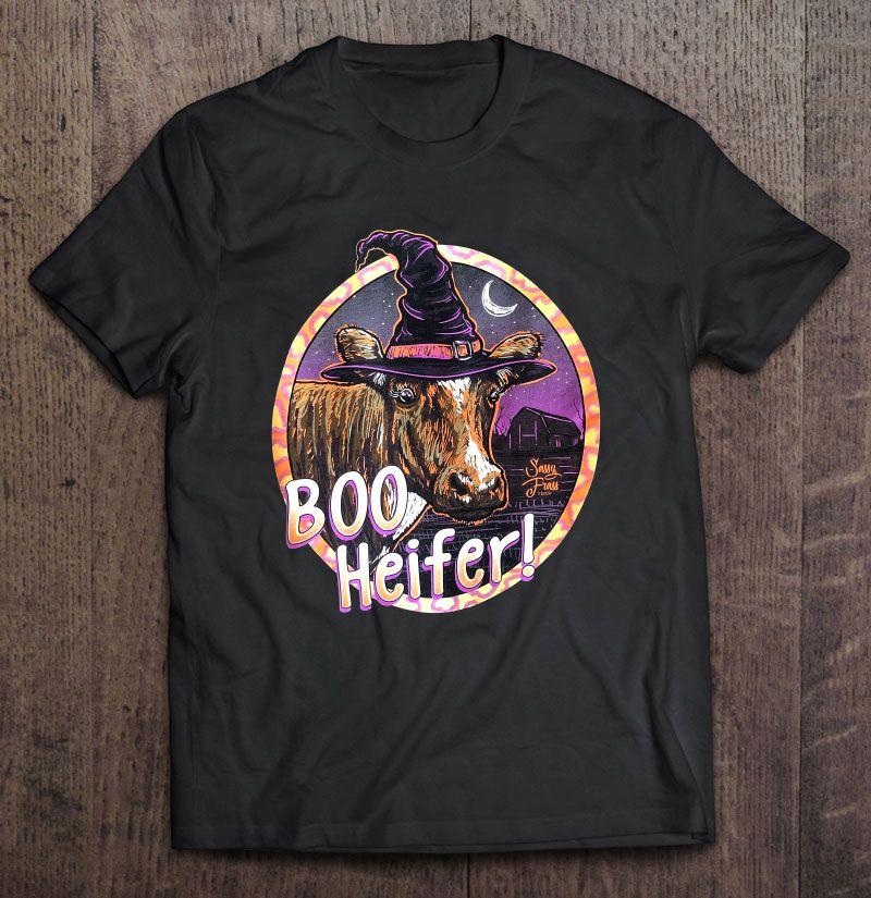 Boo Heifer Witch Heifer Halloween Shirt