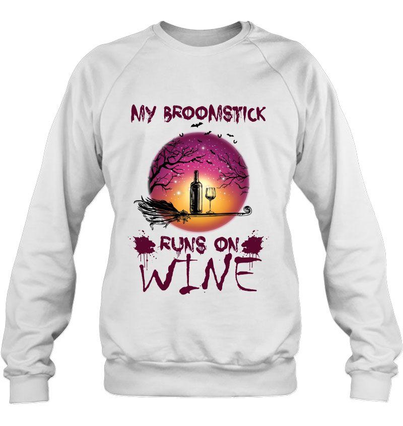 My Broomstick Runs On Wine Halloween White Version Mugs