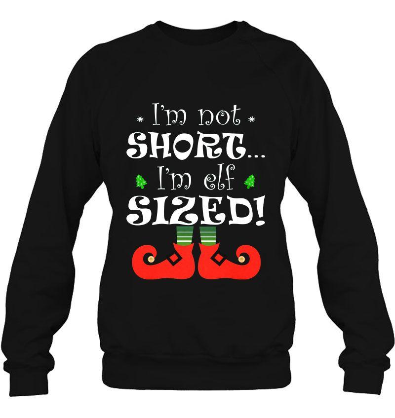 I'm Not Short I'm Elf Sized Christmas Mugs