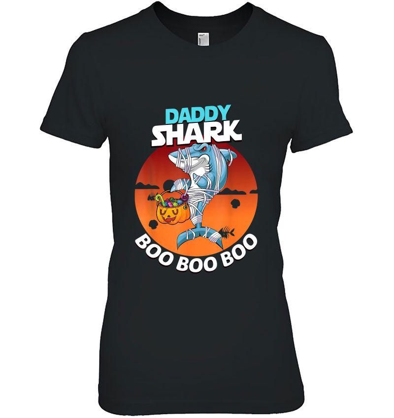 Daddy Shark Boo Boo Boo Mummy Shark Halloween Hoodie