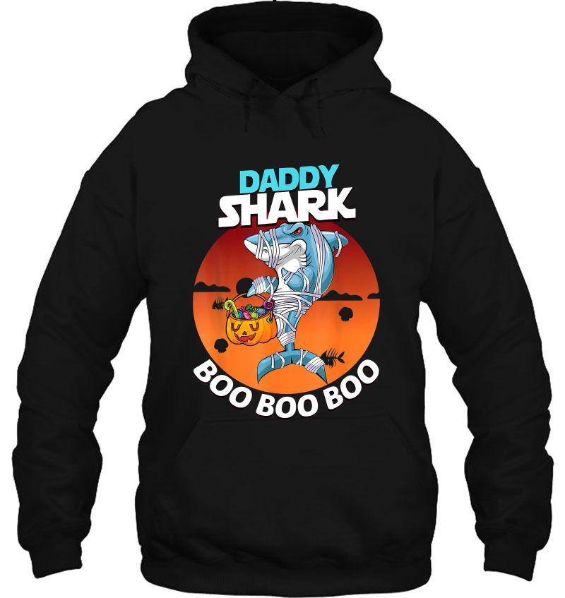 Daddy Shark Boo Boo Boo Mummy Shark Halloween Mugs