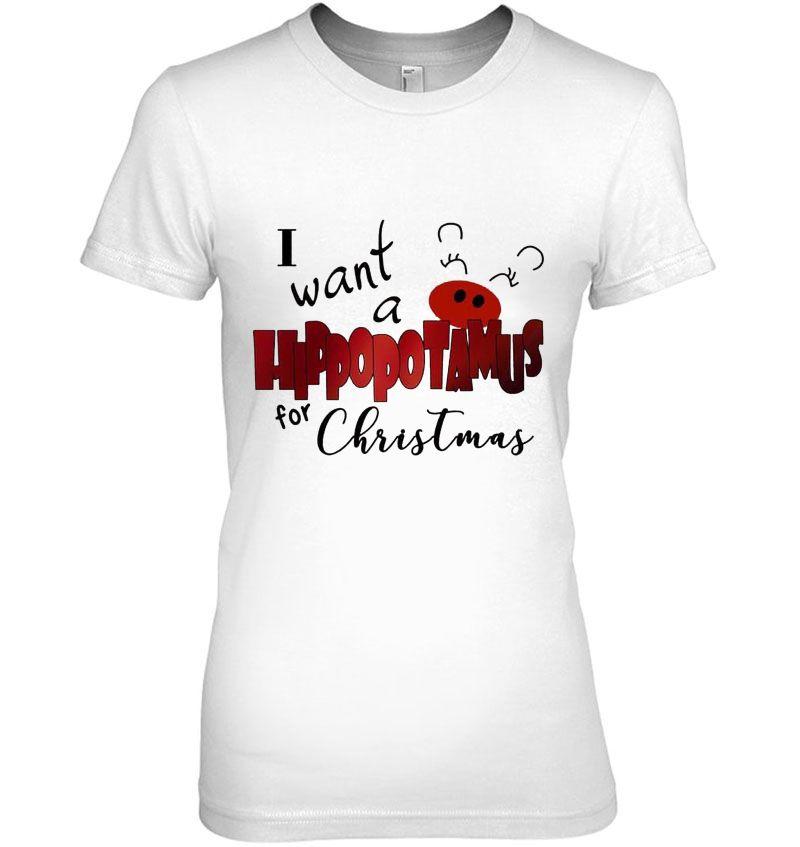 I Want A Hippopotamus For Christmas White Version Hoodie