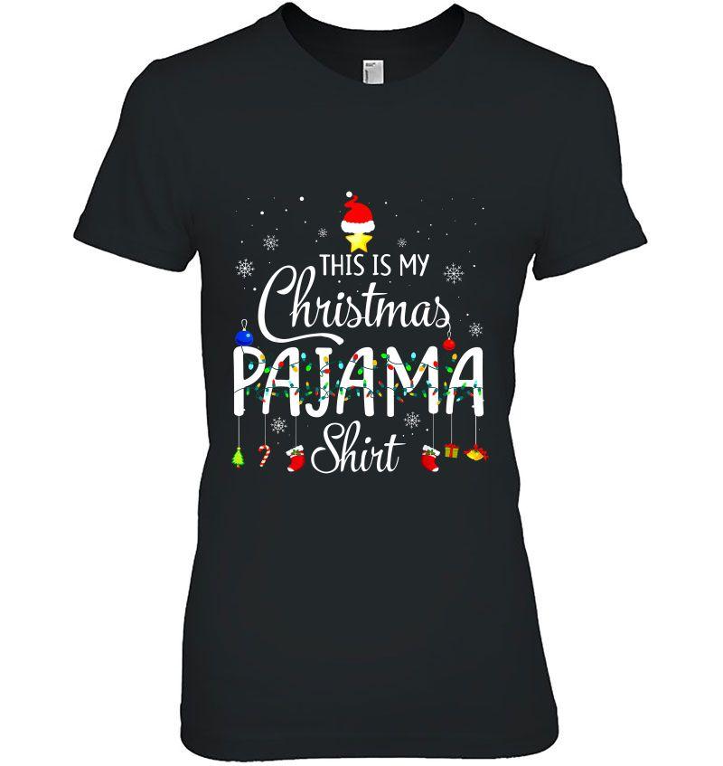 This Is My Christmas Pajama Shirt Christmas Lights Version2 Hoodie