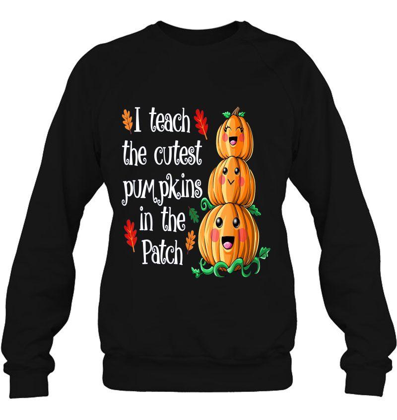 I Teach The Cutest Pumpkins In The Patch Teacher Halloween Mugs