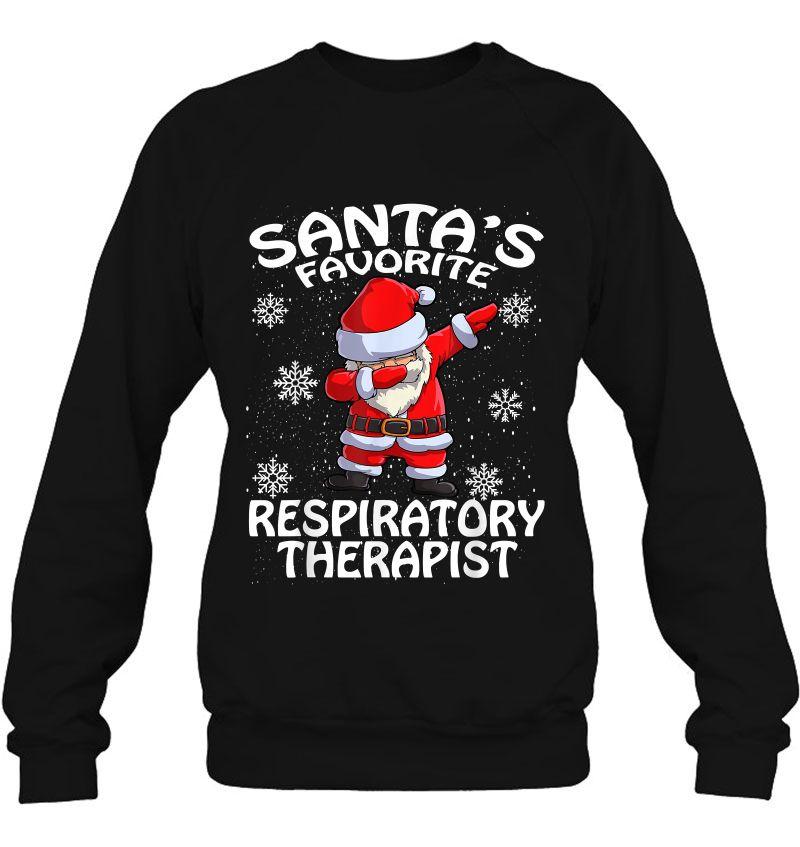 Santa's Favorite Respiratory Therapist Christmas Mugs