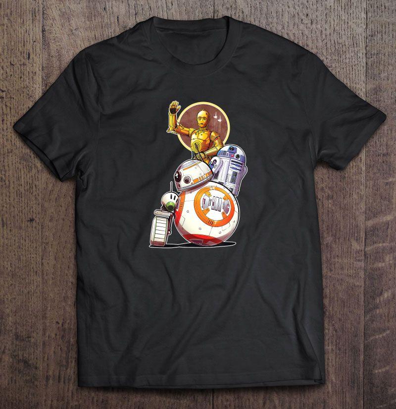 Star Wars Rise Of Skywalker Droids Collage T Shirts Teeherivar