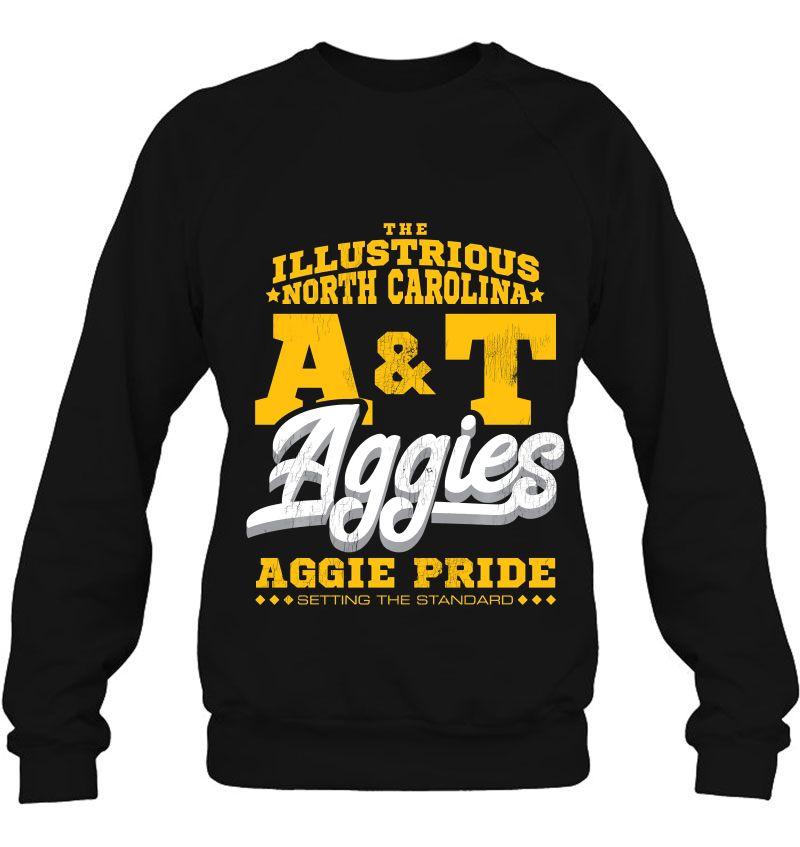 "/""AGGIES/"" Tee  Navy NCAT NC A/&T Aggies Aggie Pride"