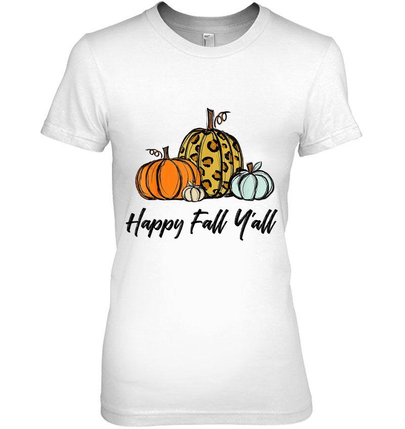 Happy Fall Y'all Pumpkin Halloween Version2 Hoodie