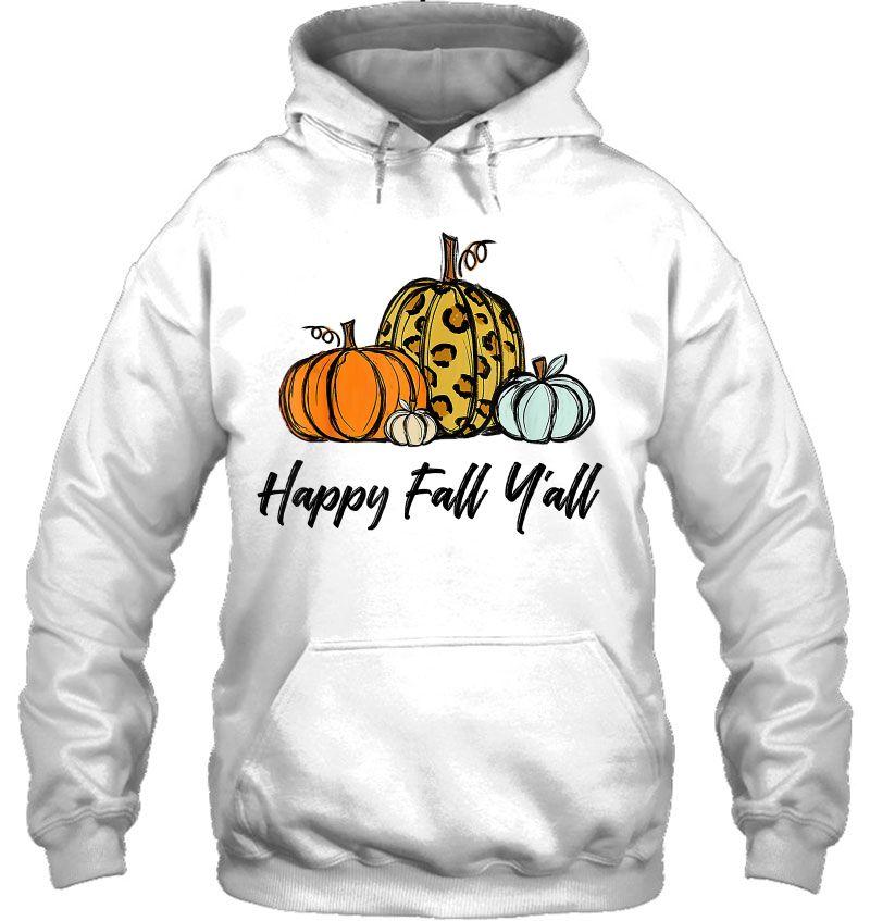 Happy Fall Y'all Pumpkin Halloween Version2 Mugs