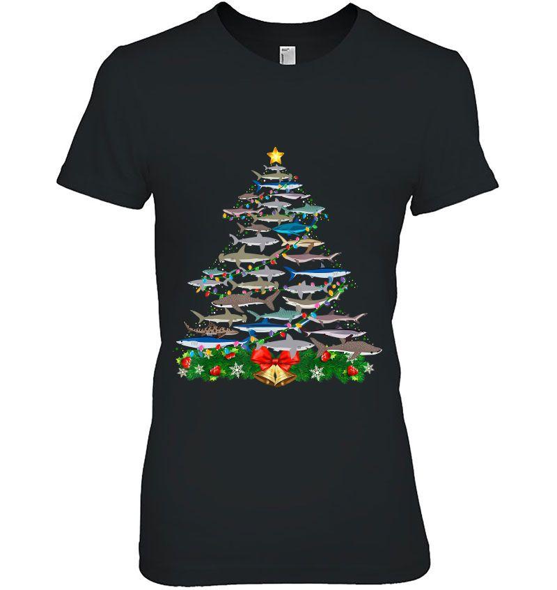Shark Christmas Tree Hoodie