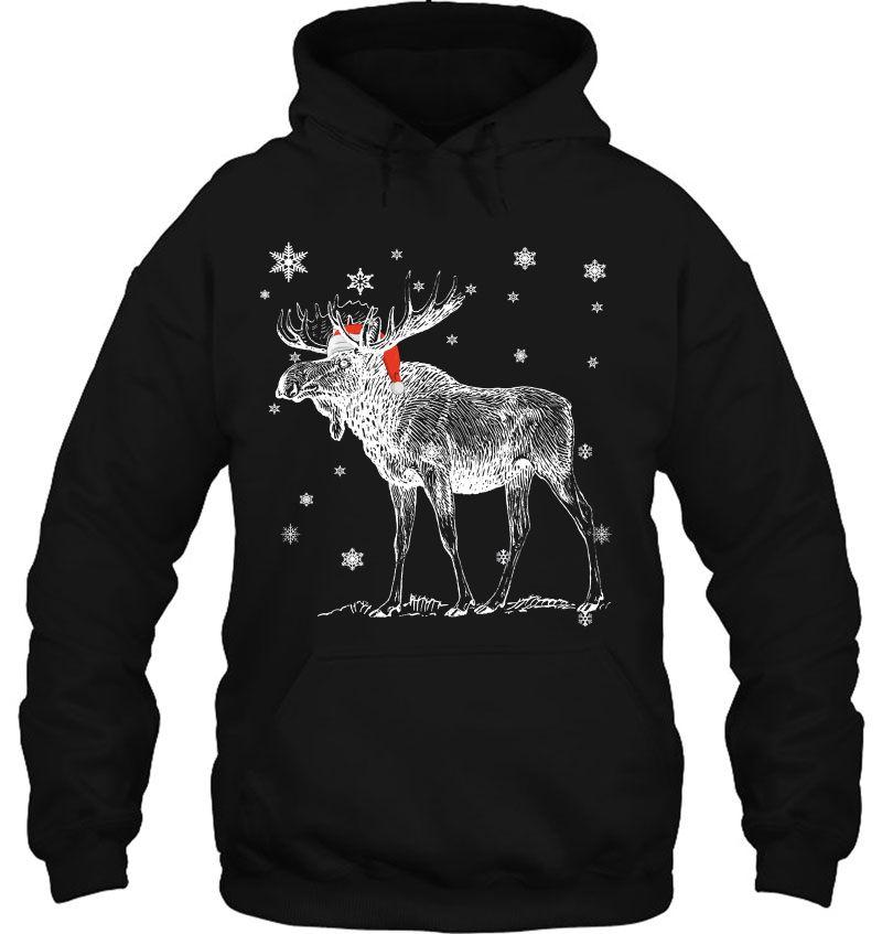 Moose Santa Hat Christmas Mugs