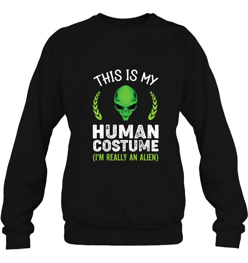 This Is My Human Costume I'm Really An Alien Halloween Version2 Mugs