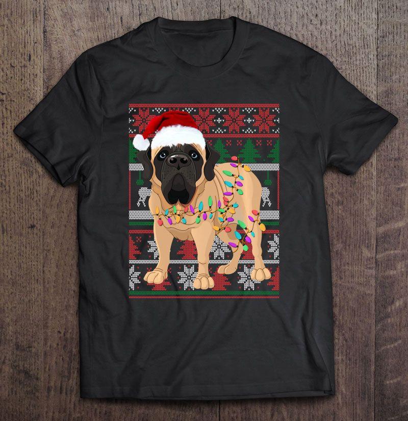 English Mastiff Christmas