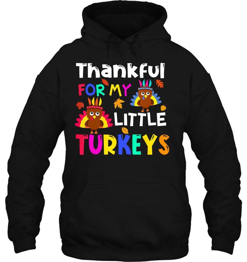 Thankful For My Little Turkeys Version2 Mugs