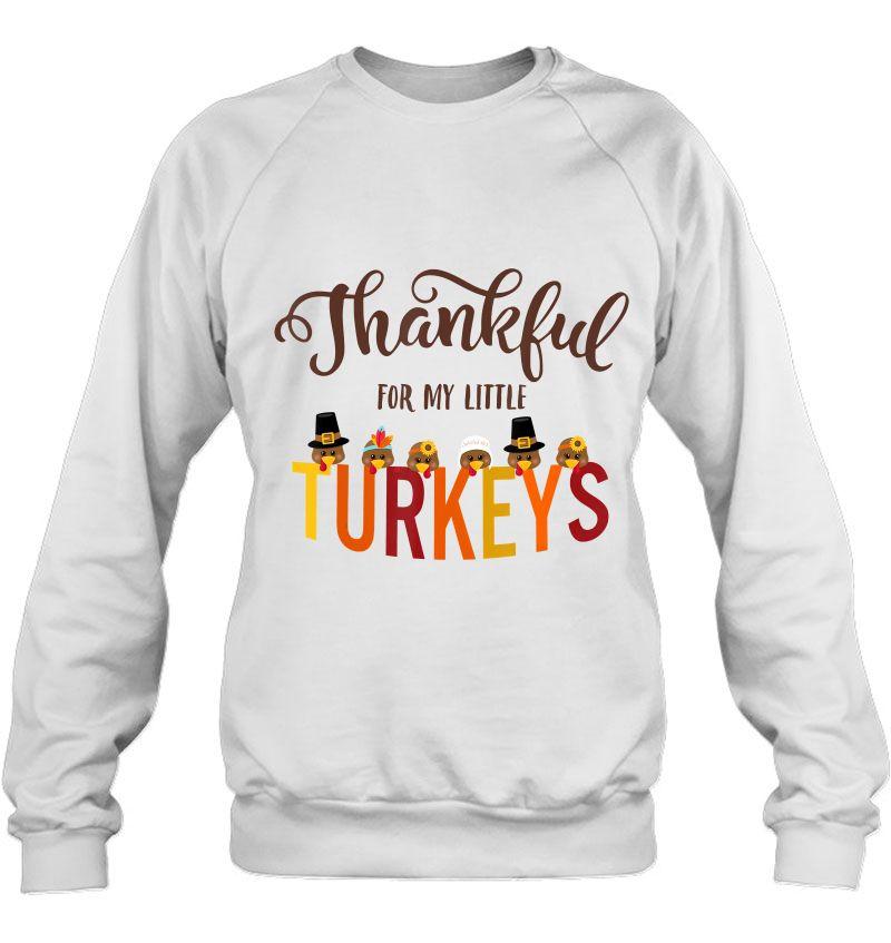 Thankful For My Little Turkeys White Version Mugs