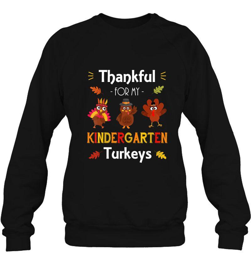 Thankful For My Kindergarten Turkeys Three Turkeys Version Mugs
