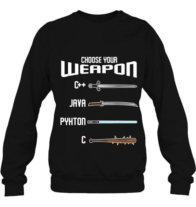 Choose Your Weapon Funny Programming Language Mugs