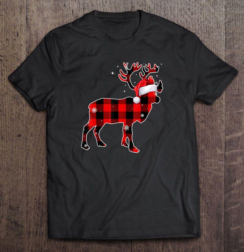 personalized kids christmas shirt Boys Christmas Shirt red buffalo check moose shirt buffalo check trees green raglan