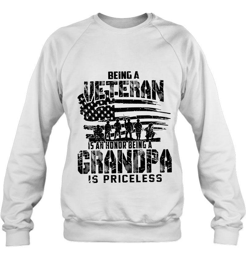 Being A Veteran Is An Honor Being A Grandpa Is Priceless US Veteran WhiteVersion Mugs