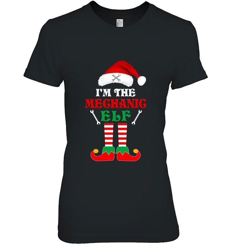 I'm The Mechanic Elf Christmas Santa Hat Version Hoodie