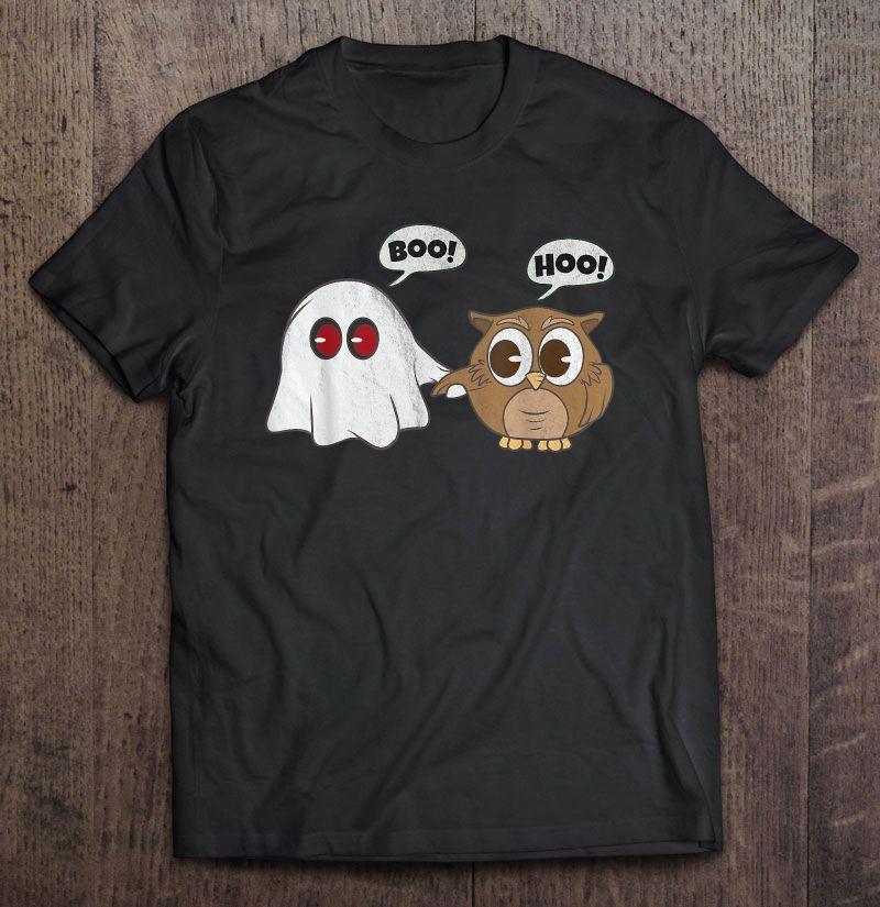 Boo Hoo Owl Ghost Halloween Shirt