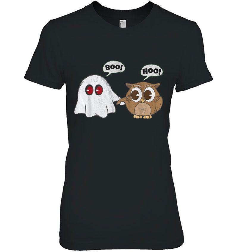 Boo Hoo Owl Ghost Halloween Hoodie