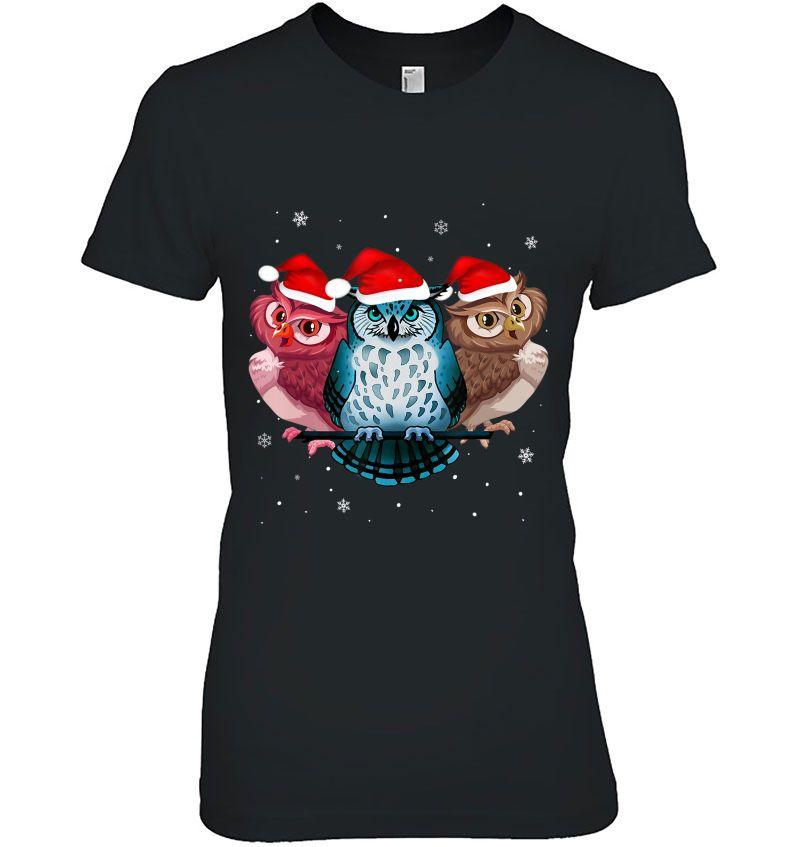 Owl Santa Hat Christmas Hoodie