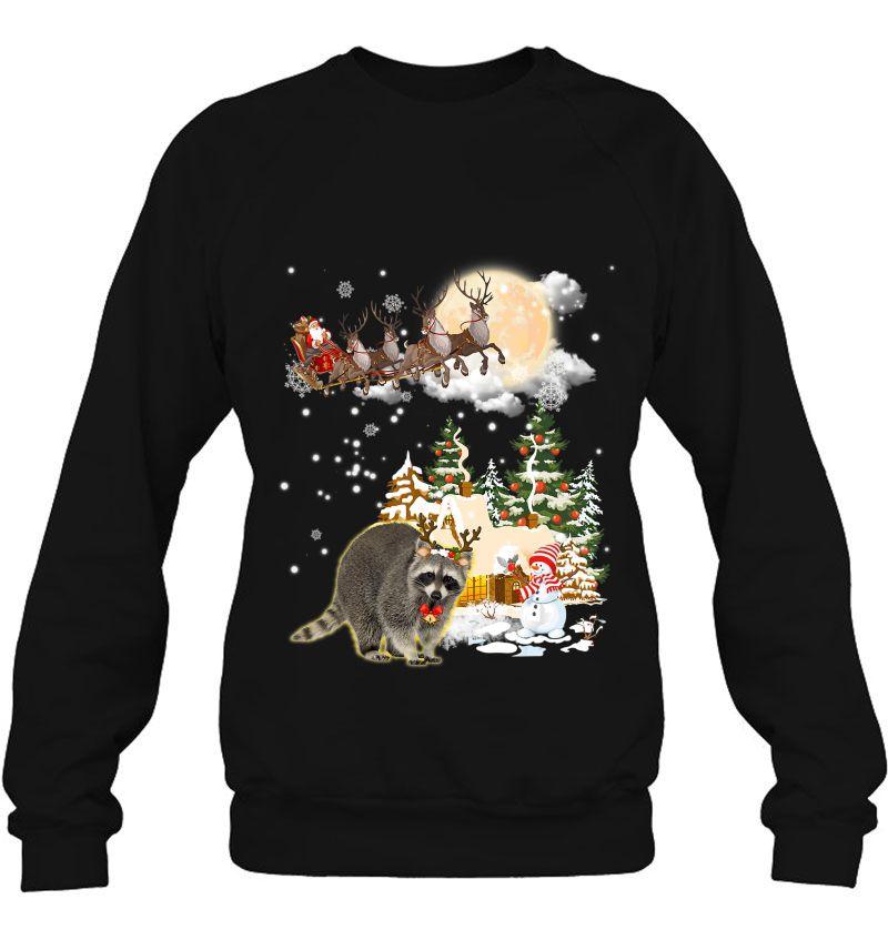 Raccoon Reindeer Santa Claus Christmas Mugs