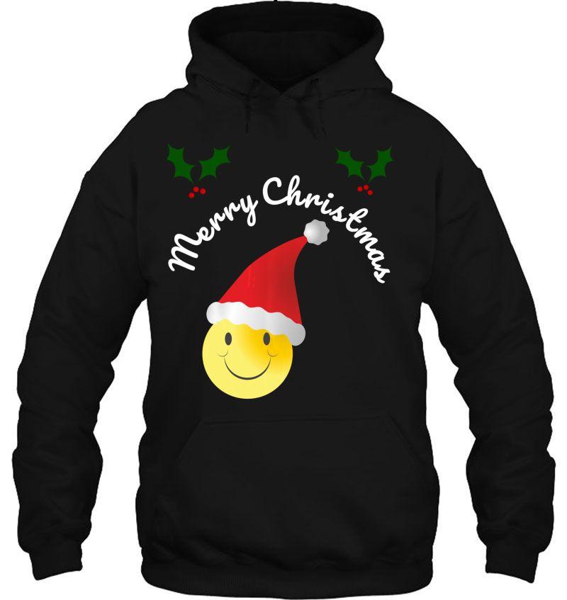 Merry Christmas Smiley Emoji Santa Hat Version Mugs