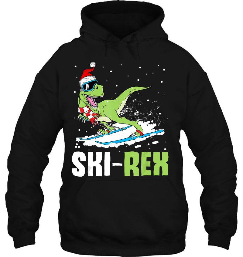 Ski Rex T-Rex Dinosaur Santa Hat Ski Lover Mugs