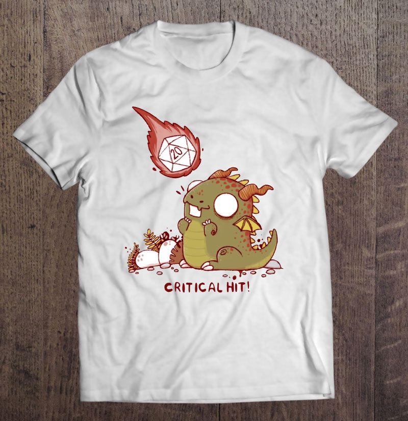 Critical Hit Dungeons & Dragons D20 Shirt