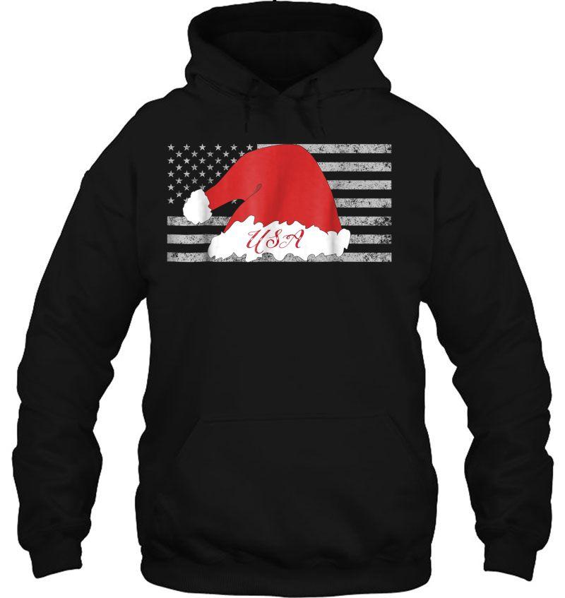 USA Santa Hat American Flag Christmas Mugs