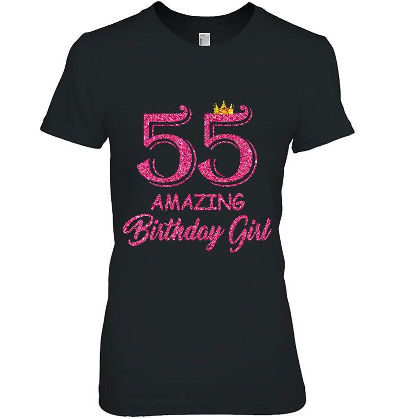 55 Amazing Birthday Girl Hoodie